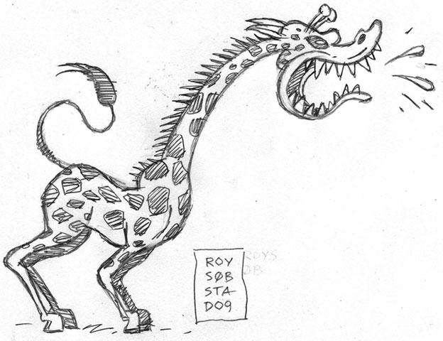 Giraff tegning